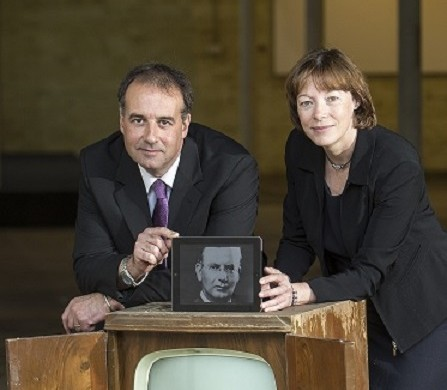 phil_worms_director_helensburgh_heroes_and_Dr_Morag_Ferguson_of_glasgow_caledonian_university_at_heroes_centre_site