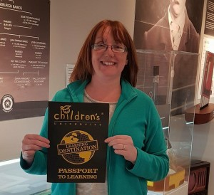 Emer Flett of Srgyll and Bute Council in the Helensburgh Heroes Centre which has been designated Helensburgh's first Children's University Learning Destination