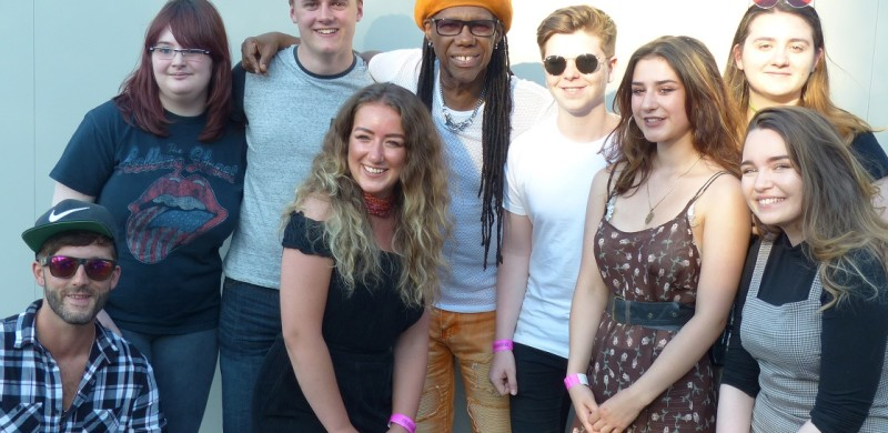 Nile Rodgers of Chic hosts a Big Chair event for Helensburgh Heroes in Kelvingrove Park Glasgow